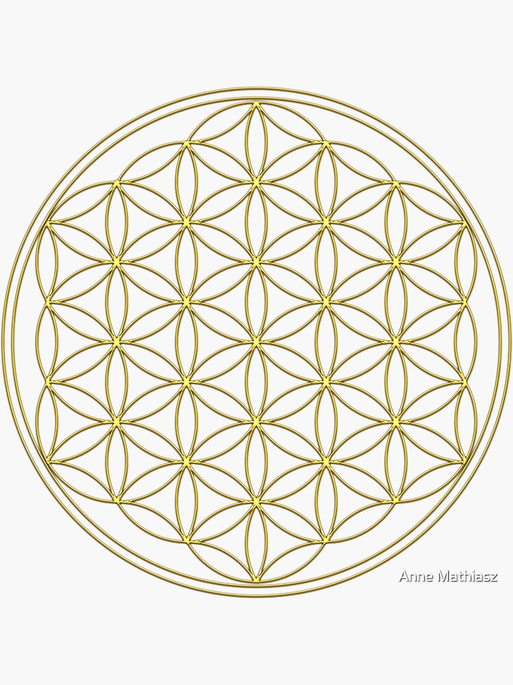 Flower of life, Sacred Geometry, Gold, Healing and Energizing by nitty-gritty