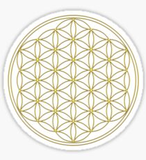 Flower of life - Sacred Geometry - Gold, Healing & Energizing Sticker