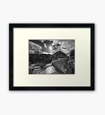 River Coupall Rocks Framed Print