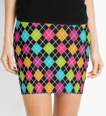 Colorful Argyle Mini Skirt
