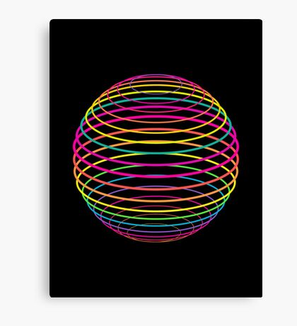 Neon Strings of the Globe Canvas Print
