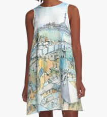 Il Porto (view of Genoa) A-Line Dress
