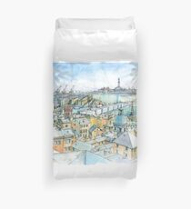 Il Porto (view of Genoa) Duvet Cover