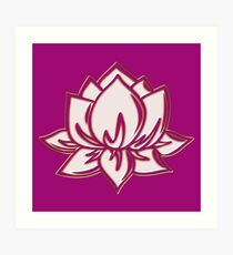 Lotus Flower Symbol Wisdom & Enlightenment Buddhism Zen Art Print