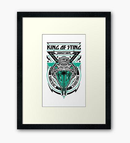 King of Sting Framed Print