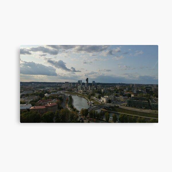 Vilnius view on the Neris river Canvas Print