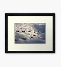 Red Arrows and Spitfire Framed Print