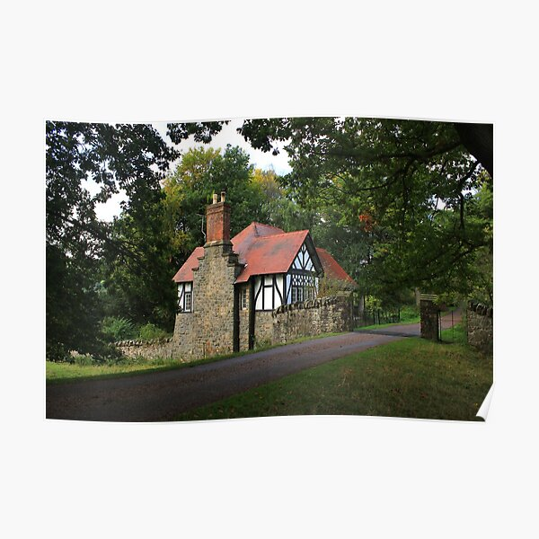 Gate lodge by Chirk Castle drive Poster