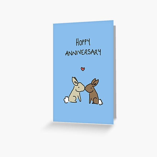 Hoppy Anniversary Greeting Card