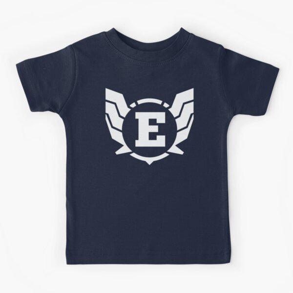 Superhero Letter E. Power of Wings Kids T-Shirt