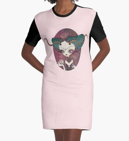 Arielle (Aries) ~ Zodiac Series Graphic T-Shirt Dress