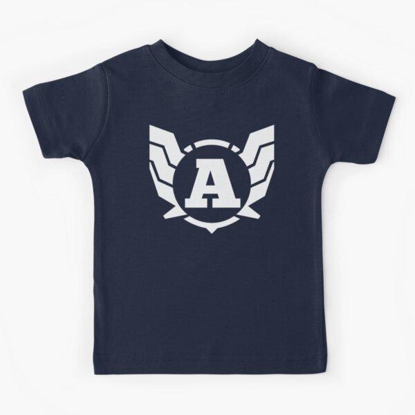 Superhero Letter A. Power of Wings Kids T-Shirt