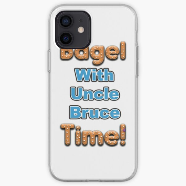 Bagel Time With Uncle Bruce iPhone Soft Case