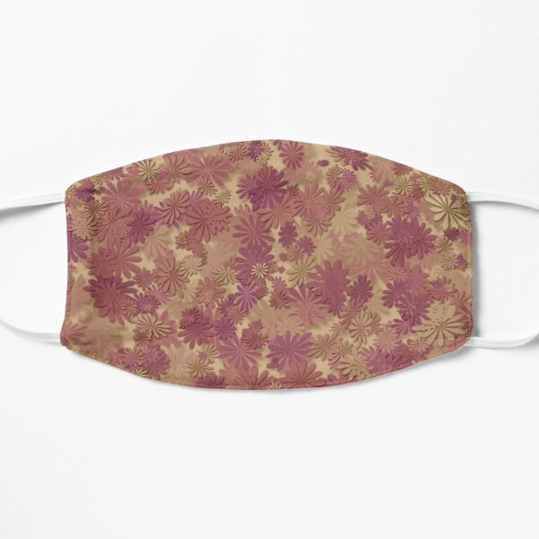 Fall leaves pattern design Flat Mask