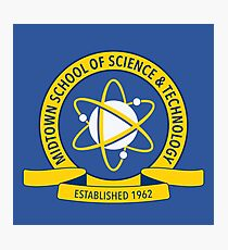 Midtown School of Science and Technology Logo Photographic Print