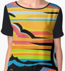 Fast Car - Abstract Graphic Women's Chiffon Top