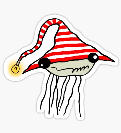Jellyfish Boy Sticker