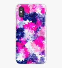 Modern pink purple watercolor brushstrokes iPhone Case