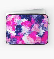 Modern pink purple watercolor brushstrokes Laptop Sleeve