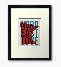 Nord East Love Framed Print