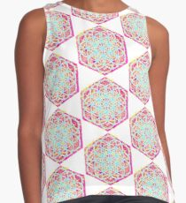 Flower of Life Sacred Geometry Mandala Color 3 Contrast Tank