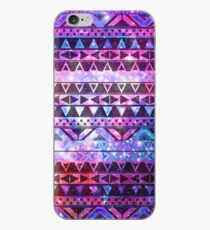 Girly Andes aztekische Muster-Rosa-aquamarine Nebelfleck-Galaxie iPhone-Hülle & Cover