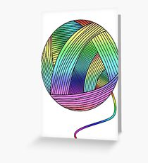 Rainbow Yarn Ball! Greeting Card