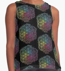 Flower of Life Sacred Geometry Mandala Color 2 Contrast Tank