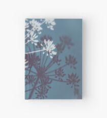 Twilight Stars. Botanical Macro Abstract Art. Dark Floral Hardcover Journal