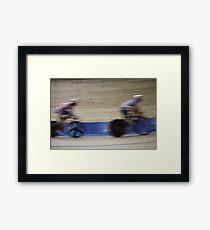 Bicycle Race Velodrome Framed Print