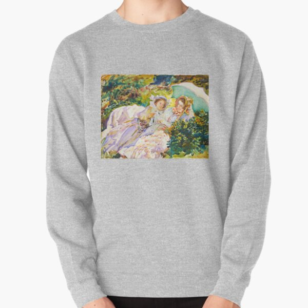 Simplon Pass: The Tease - John Singer Sargent Pullover Sweatshirt