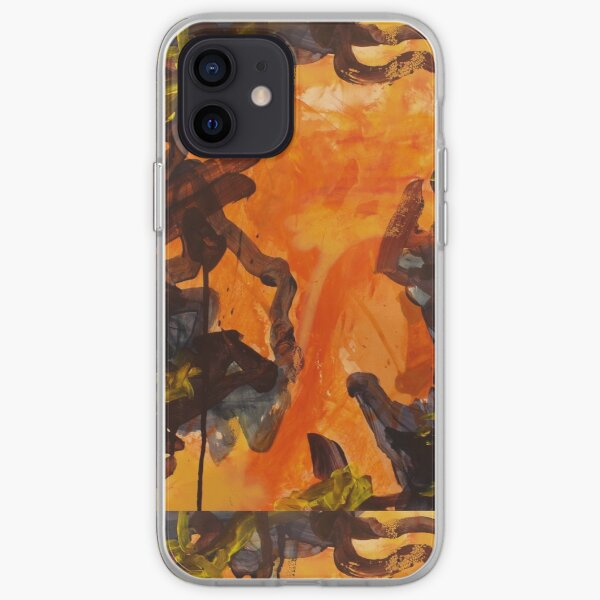 Orange, Blue and Yellow Abstraction  iPhone Soft Case