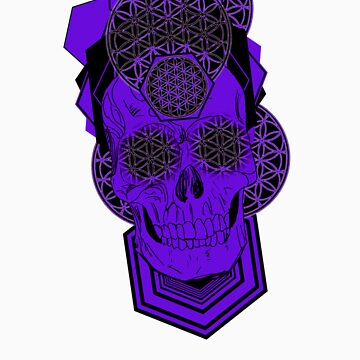 Bursting Geo Skull v2 by Tiduk