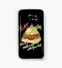 Healthy eating burger pyramid Samsung Galaxy Case/Skin