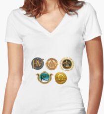 Camiseta entallada de cuello en V Rick Riordan Logo's