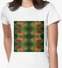 Flowers of red Womens Fitted T-Shirt