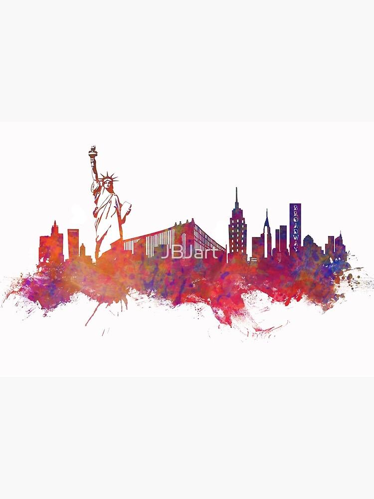 New York city Skyline red by JBJart