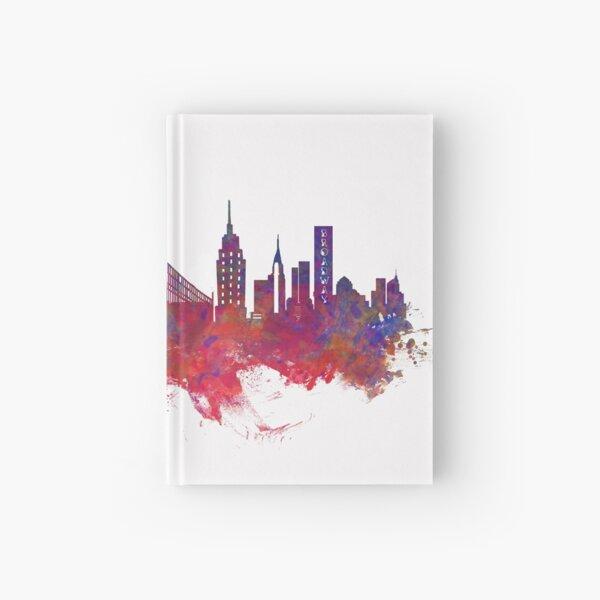 New York city Skyline red Hardcover Journal
