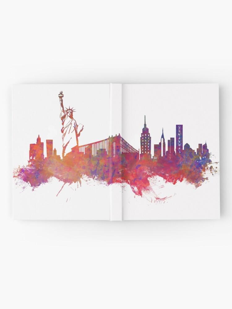 Alternate view of New York city Skyline red Hardcover Journal