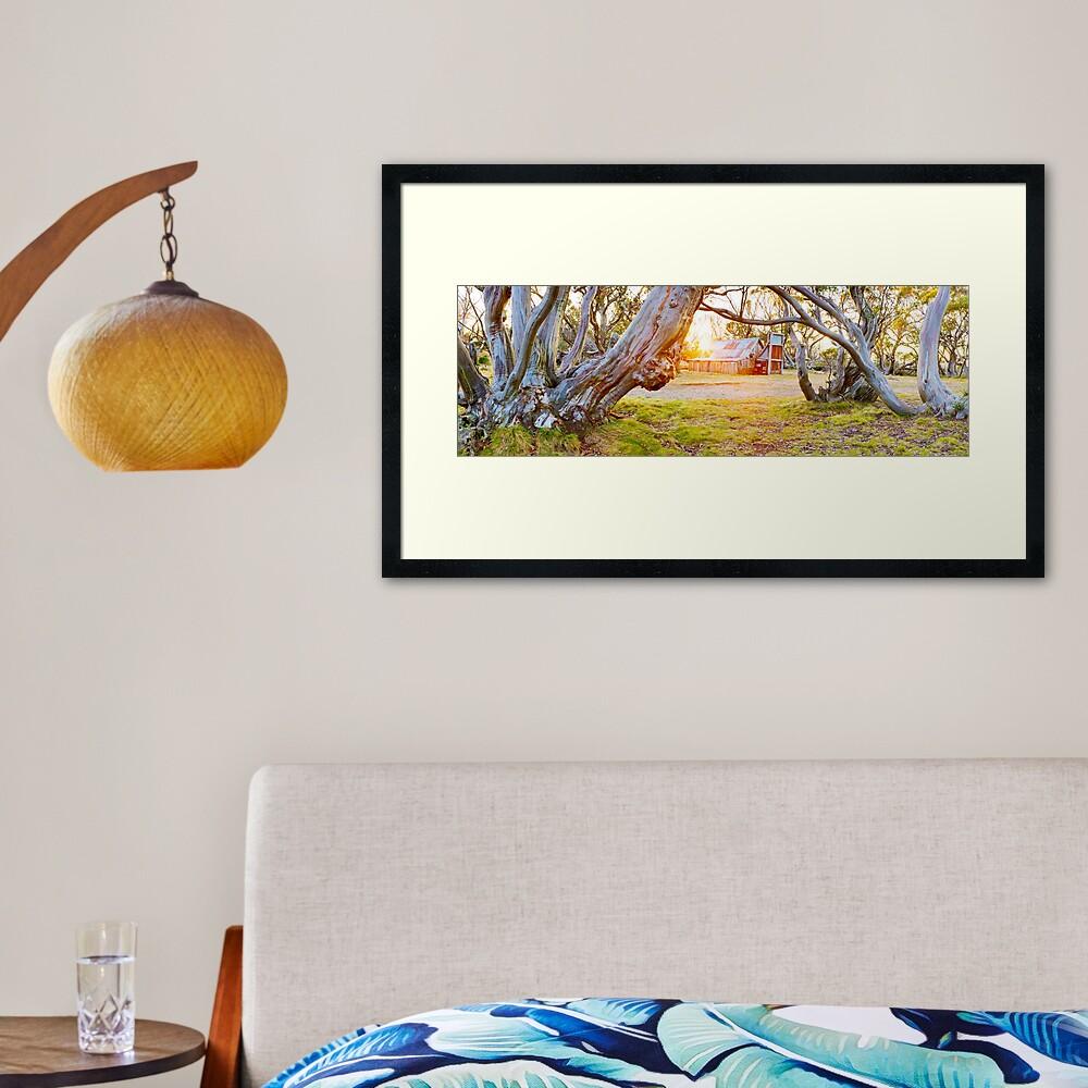 Wallace Hut, Falls Creek, Victoria, Australia Framed Art Print