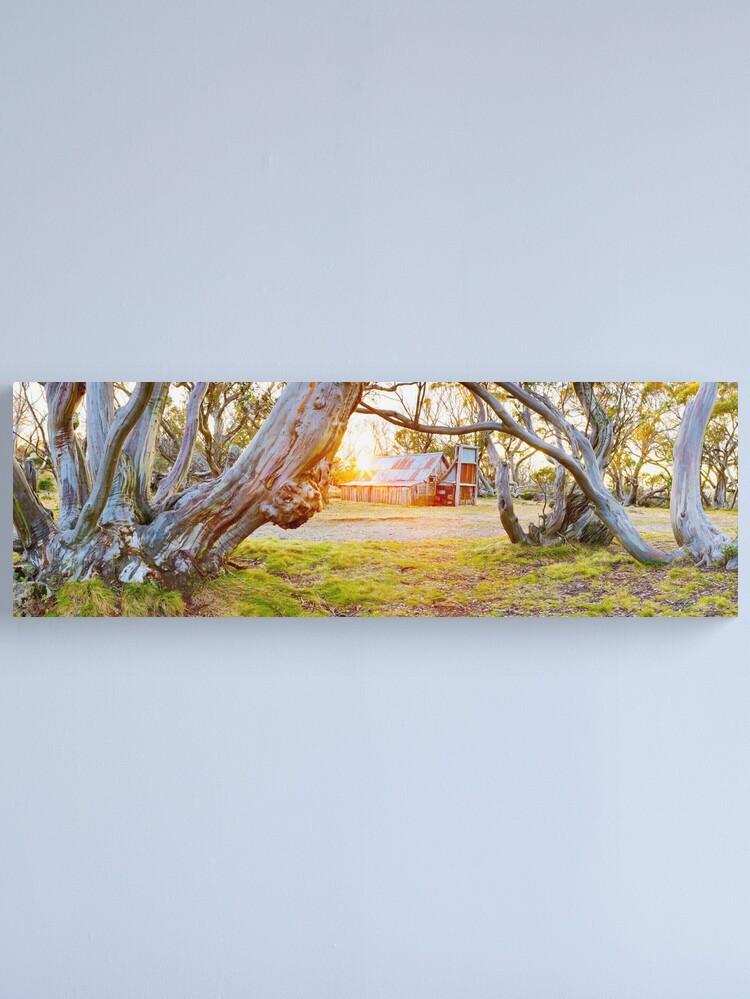 Alternate view of Wallace Hut, Falls Creek, Victoria, Australia Canvas Print