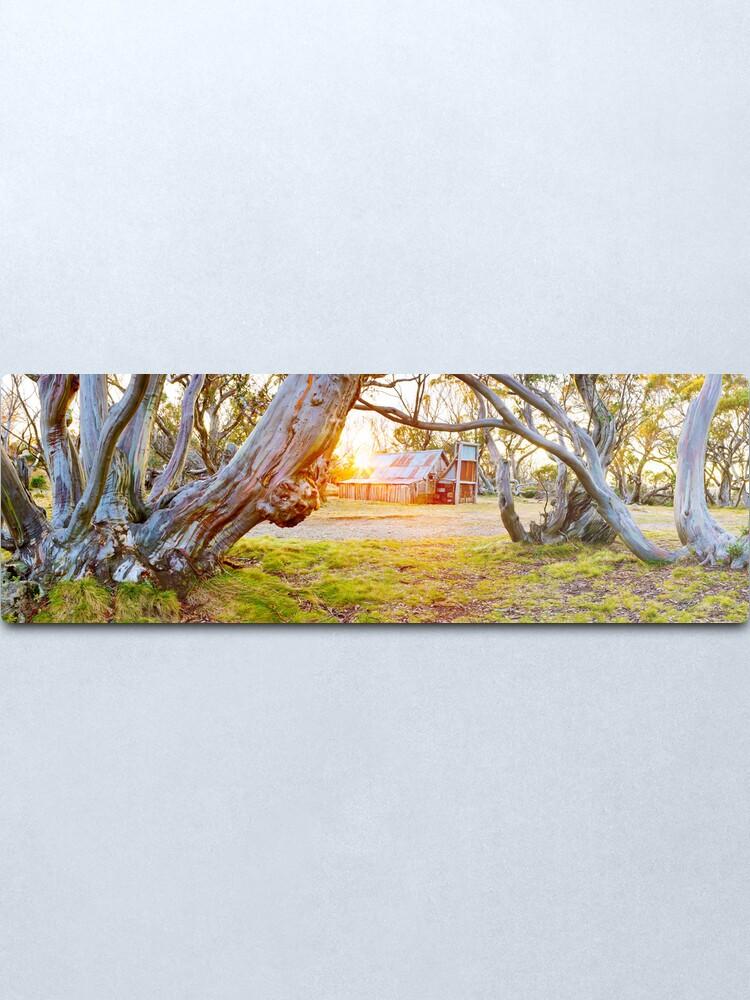 Alternate view of Wallace Hut, Falls Creek, Victoria, Australia Metal Print
