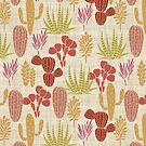 Cactus Garden Brown and Gold by SpiceTree