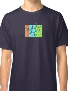Coffee Addiction molecular structure of caffeine Classic T-Shirt
