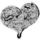 HeartFull graffiti love by Casey Virata