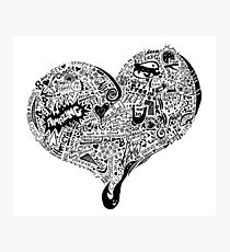 HeartFull graffiti love Photographic Print