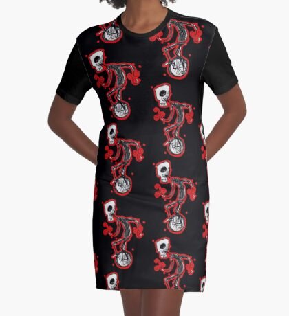 cyclops on a unicycle Graphic T-Shirt Dress