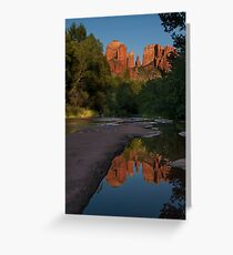 Reflection at Cathedral Rock Greeting Card