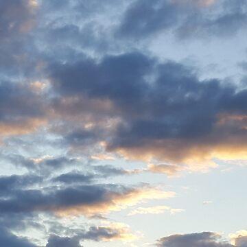 Sunset clouds by Sheepandwolf