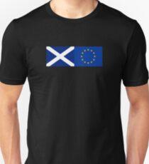 Scotland EU Flag - Scottish Stay In The European Union Sticker T-Shirt